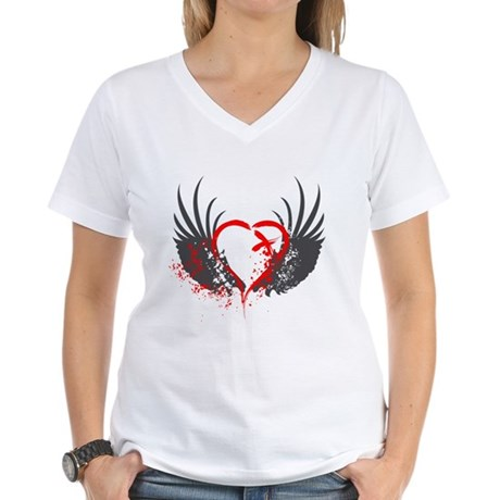 Blood Wings Women's V-Neck T-Shirt