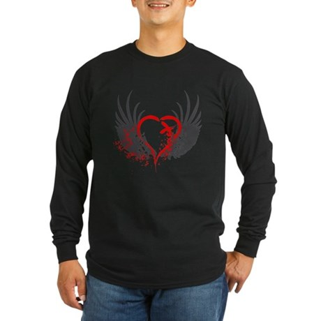 Blood Wings Long Sleeve Dark T-Shirt