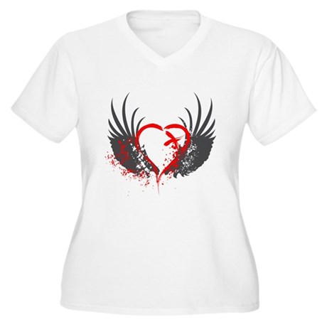 Blood Wings Women's Plus Size V-Neck T-Shirt
