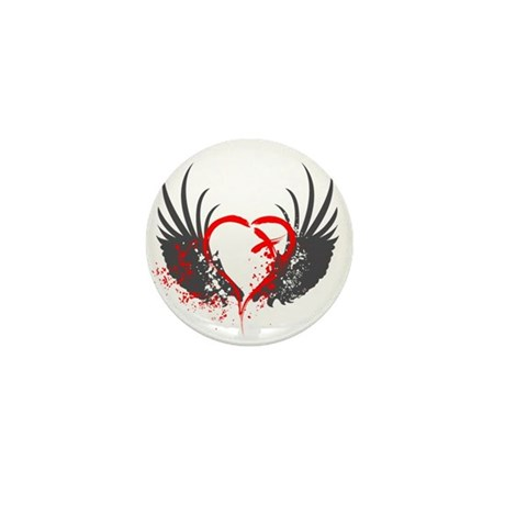 Blood Wings Mini Button