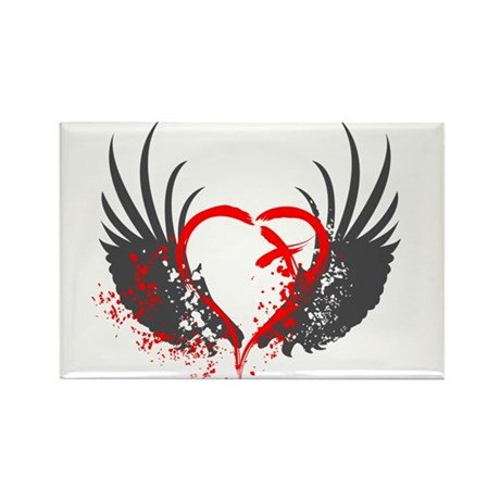 Blood Wings Rectangle Magnet