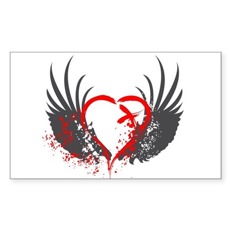 Blood Wings Rectangle Sticker