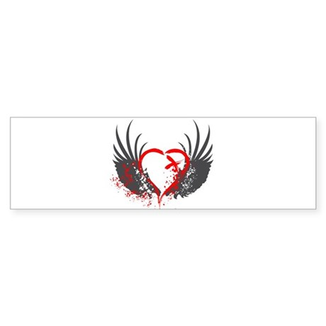 Blood Wings Bumper Sticker