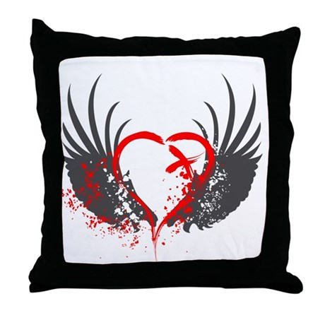 Blood Wings Throw Pillow