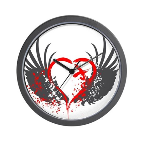 Blood Wings Wall Clock