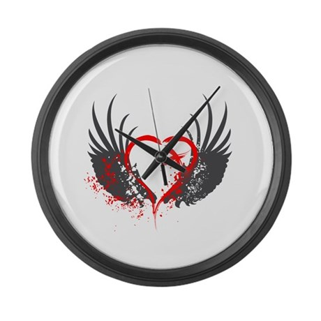 Blood Wings Large Wall Clock