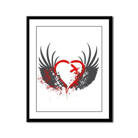 Blood Wings Framed Panel Print
