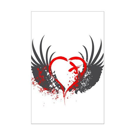 Blood Wings Mini Poster Print