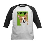Green Pop Pembroke Welsh Corgi Kid Baseball Jersey
