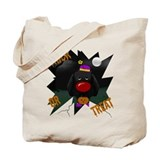 Black Lab Clown Halloween Tote Bag