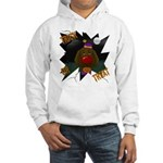 Chocolate Lab Clown Halloween Hooded Sweatshirt