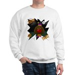 Chocolate Lab Clown Halloween Sweatshirt