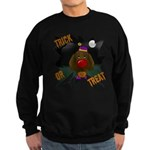 Chocolate Lab Clown Halloween Sweatshirt (dark)