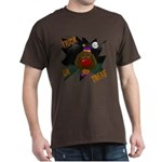 Chocolate Lab Clown Halloween Dark T-Shirt