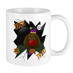 Chocolate Lab Clown Halloween Mug