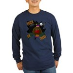 Chocolate Lab Clown Halloween Long Sleeve Dark T-S
