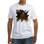 Chocolate Lab Clown Halloween Fitted T-Shirt