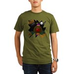 Chocolate Lab Clown Halloween Organic Men's T-Shir