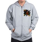 Chocolate Lab Clown Halloween Zip Hoodie