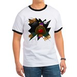 Chocolate Lab Clown Halloween Ringer T