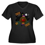 Chocolate Lab Clown Halloween Women's Plus Size V-