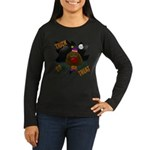 Chocolate Lab Clown Halloween Women's Long Sleeve