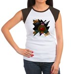 Chocolate Lab Clown Halloween Women's Cap Sleeve T