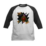 Chocolate Lab Clown Halloween Kids Baseball Jersey