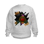 Chocolate Lab Clown Halloween Kids Sweatshirt