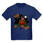Chocolate Lab Clown Halloween Kids Dark T-Shirt
