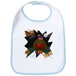Chocolate Lab Clown Halloween Bib