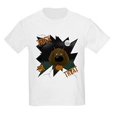 Chocolate Lab Devil Halloween T-Shirt