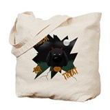 Black Lab Devil Halloween Tote Bag