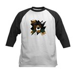 Papillon Devil Halloween Kids Baseball Jersey