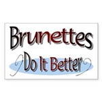 Brunettes Rectangle Sticker