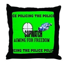 COP WATCH Throw Pillow