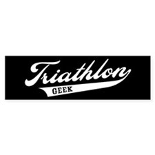 Triathlon Geek Bumper Bumper Sticker