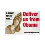 Deliver us from Obama Rectangle Magnet (10 pack)