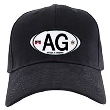 Antigua & Barbuda Euro Oval Baseball Hat