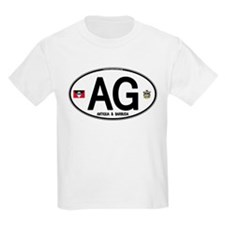 Antigua & Barbuda Euro Oval T-Shirt