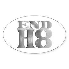 End H8 Oval Sticker (50 pk)