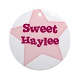 Sweet Haylee Ornament (Round)