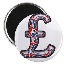 Pound Sign Union Jack Magnet