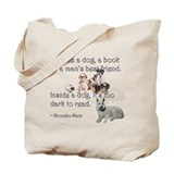 Outside a Dog Tote Bag