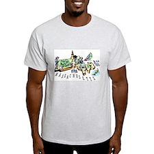 Massachusetts Map T-Shirt