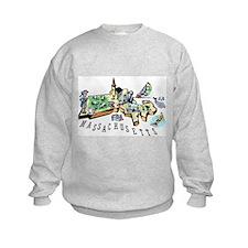 Massachusetts Map Sweatshirt