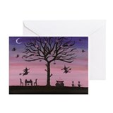 Friendship Circle Witch Greeting Card