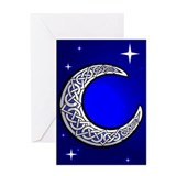 Celtic moon Greeting Cards