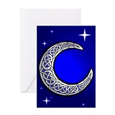 Celtic Knotwork Moon Card