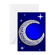 Blank Celtic Moon Card